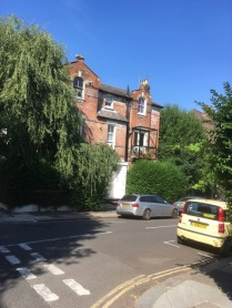 30 Willoughby Road. Hampstead where DHL spent his last night(1926) in the UK